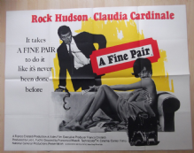 Fine Pair, Original UK Quad Poster, Rock Hudson, Claudia Cardinale, '68